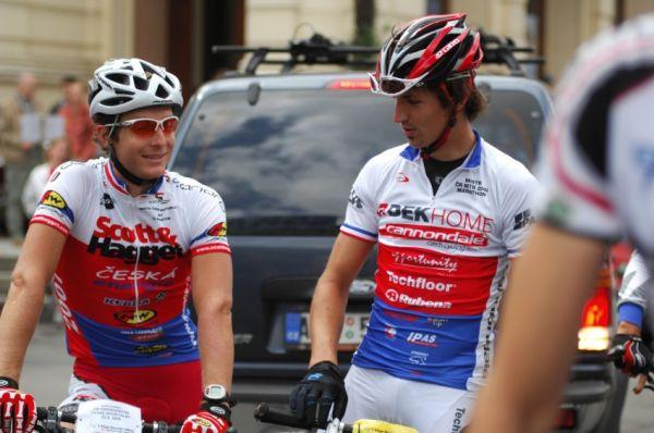 KPŽ Karlovarský AM bikemaraton ČS 2008: Mistři Kristián Hynek a Jiří Novák