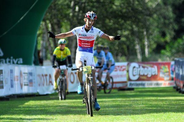 KPŽ Karlovarský AM bikemaraton ČS 2008: Jiří Novák vítězí na dlouhé trati