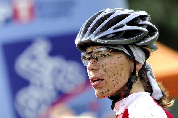 KP� Karlovarsk� AM bikemaraton �S 2008: Petra Kottov� v�t�zkou na dlouh� trati
