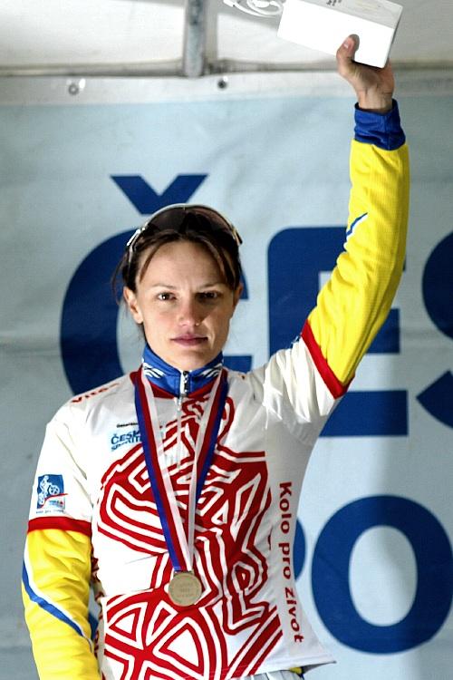 KP� Karlovarsk� AM bikemaraton �S 2008: Ilona Bublov� v�t�zkou poh�rov�ho z�vodu