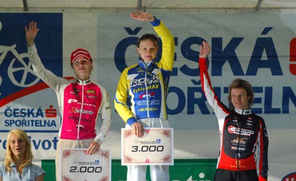 KPŽ Karlovarský AM bikemaraton ČS 2008: ženy - 1.Bublová, 2.Radová, 3.Krnáčová