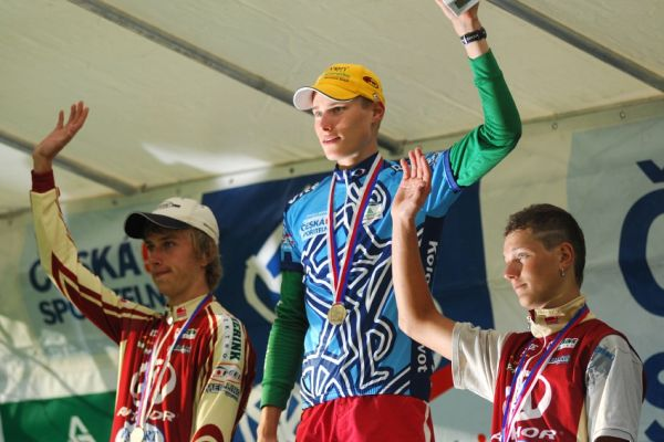 KPŽ Karlovarský AM bikemaraton ČS 2008: junioři - 1.Stohr, 2.Cink, 3.Rajchart