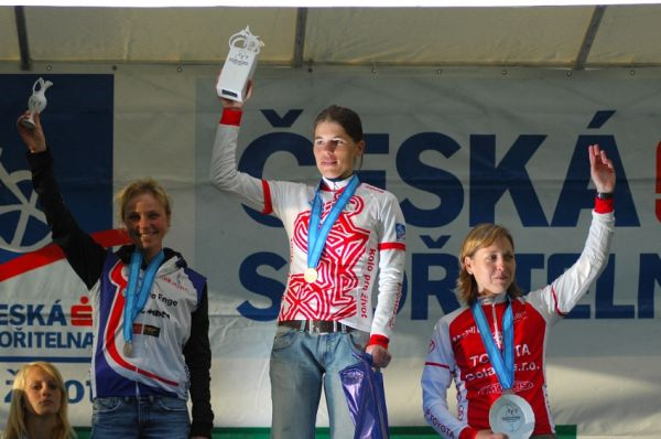 KPŽ Karlovarský AM bikemaraton ČS 2008: ženy 100km: 1.Kottová, 2.Černá, 3.Sýkorová