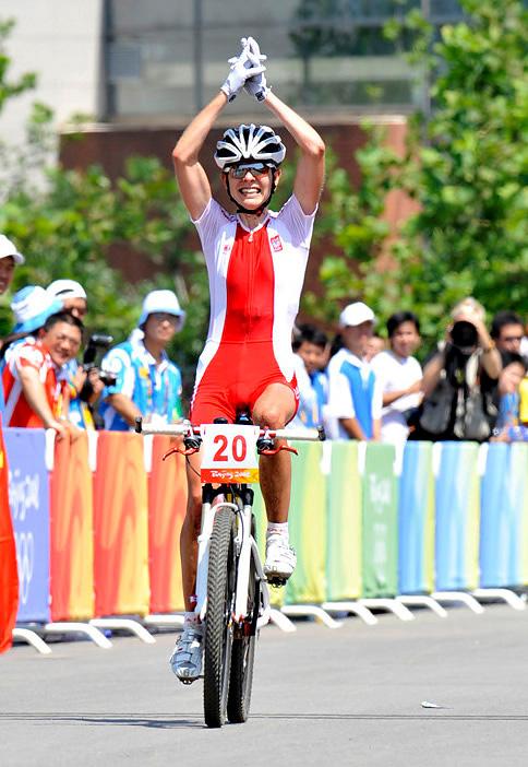 Olympijské hry 2008 - Peking - Wloszczowska má stříbrnou radost, foto: Rob Jones