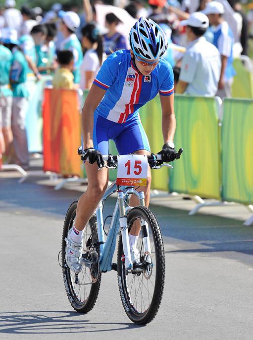 Olympijské hry 2008 - Peking -Tereza Huříková si trénuje start, foto: Rob Jones
