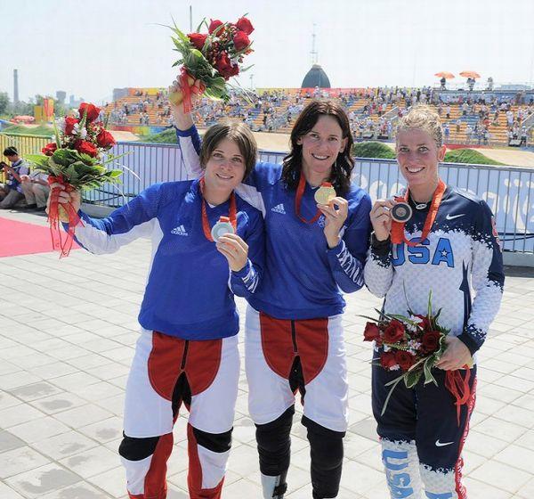 BMX - Olympijské hry - Peking 2008 - 1. Chausson, 2. Le Corguille, 3. Kintner  , foto: Rob Jones/Canadiancyclist.com