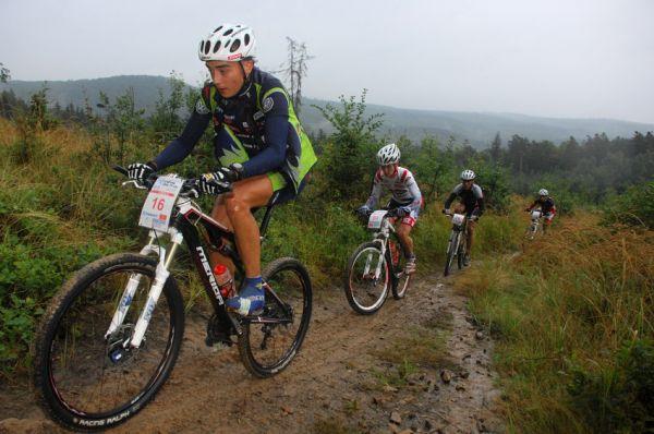 ČP XCM #5 2008 - Giant eXtreme Bike Brdy: Estonec Martin Loo, Petr Tatíček, Karel Hartl a Petr Vachek
