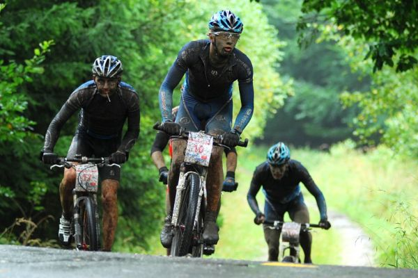 """ČP XCM #5 2008 - Giant eXtreme Bike Brdy: druhá """"modrá"""" skupinka + Rybařík"""