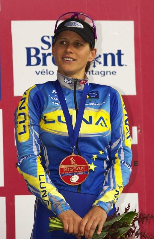 Nissan UCI MTB World Cup XC#7 - Bromont /KAN/ 3.8. 2008 - Kate�ina Nash s prvn� plackou pro �esko