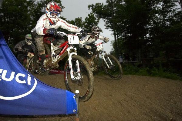 "Nissan UCI MTB World Cup 4X #5 - Bromont /KAN/, 2.8. 2008 - Rafael Alvarez přezdívaný ""Rafa"""