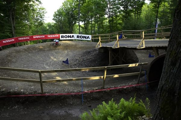 Nissan UCI MTB World Cup 4X #5 - Bromont /KAN/, 2.8. 2008 - the sink made by Mr. Saxena