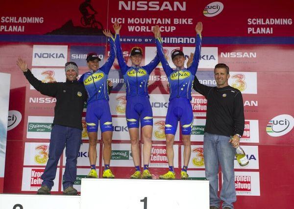 Nissan UCI MTB World Cup XC #9 - Schladming 14.9. 2008 - Katka s nejlepším týmem sezóny Luna Women's