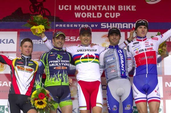 Nissan UCI MTB World Cup XC #9 - Schladming 14.9. 2008 - 1. Sauser, 2. Hermida, 3. Gutierrez, 4. Flückiger, 5. Kulhavý