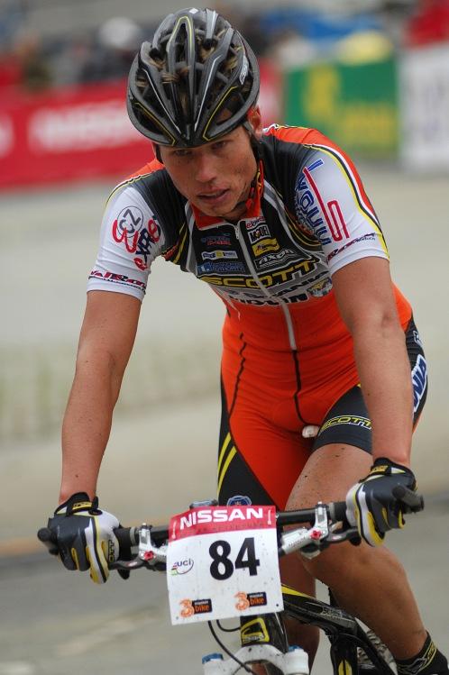 SP XC #9 Schladming 2008 - Filip Eberl v cíli