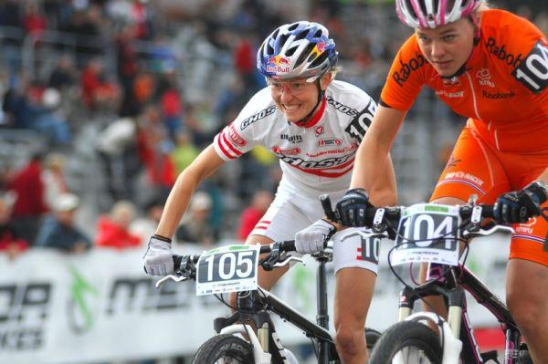Merida Bike Vysočina '08 - sprint: Lizi Osl a Karen Brouwer