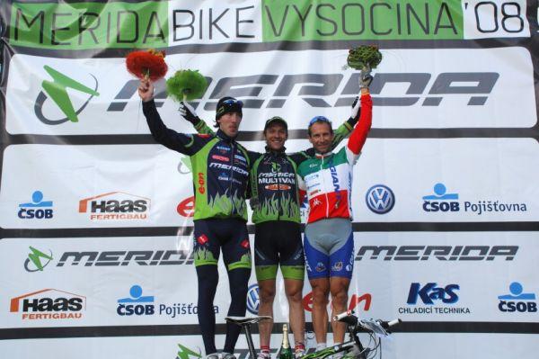 Merida Bike Vysočina '08 - sprint: muži: 1. Naef, 2.Spěšný, 3.Zoli