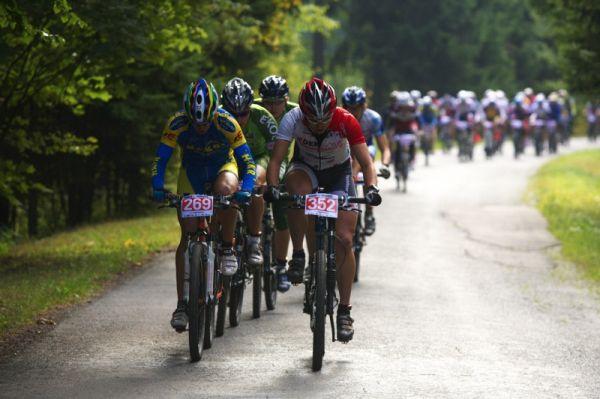Merida Bike Vysočina - maraton 27.9. 2008 - Jiří Hudeček udával tempo už od začátku