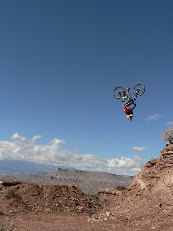 Red Bull Rampage the Evolution 2008, Virgin - Utah, USA - Andrew Taylor, foto: Pavel Mikez