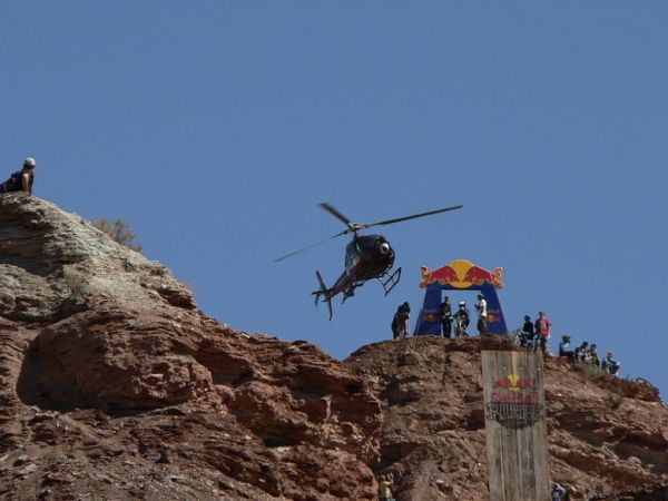 Red Bull Rampage the Evolution 2008, Virgin - Utah, USA - start! foto: Pavel Mikez