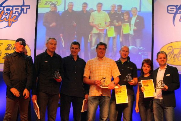 Sport Life 2008, předání cen Bike Brno Prestige, 6. 11. Brno - všichni ocenění
