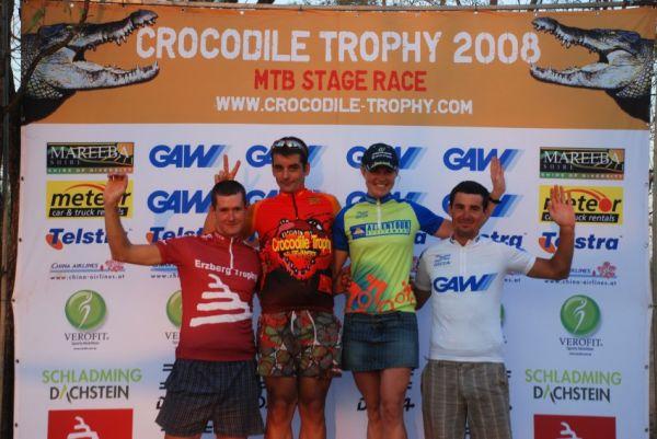 Crocodile Trophy 2008 - 6.etapa: nejlep�� z�vodn�ci celkov�