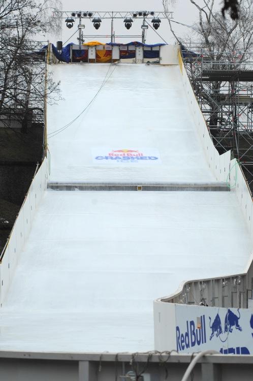 Red Bull Crashed Ice - Vyšehrad 2009: startovací rampa