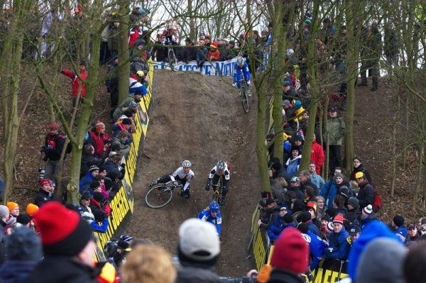 Mistrovství světa Cyklokros, Hoogerheide/NIZ - 1.2. 2009 - nejtechničtější pasáž okruhu