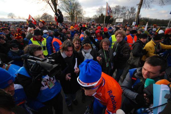 MS Cyklokros Hoogerheide /NED/ 2009 - Lars Boom pod tlakem