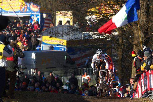 Mistrovství světa Cyklokros, Hoogerheide/NIZ - 31.1. 2009 - Phillip Walsleben se dlouho snažil skupinu roztrhat