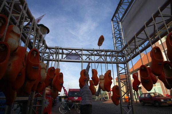 Mistrovství světa Cyklokros, Hoogerheide/NIZ - 30.1. 2009 - stavění stánků...