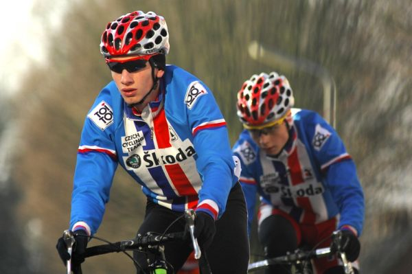 MS Cyklokros 2009 Hoogerheide /NED/ - p�tek: Ondra Bambula a Michal Boro�