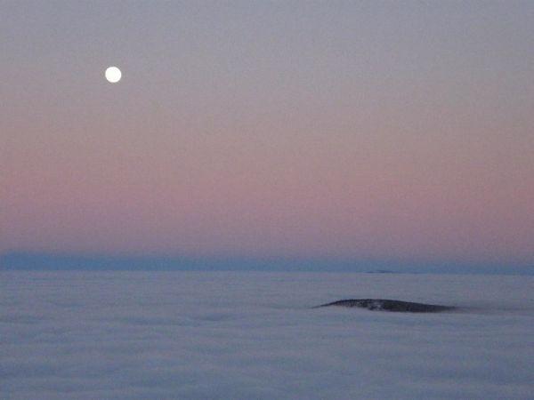Inverze v Beskydech na Lysé Hoře, foto: Bob Damek