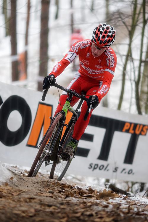 Mistrovství ČR cyklokros - Kolín 10.1. 2009 - Ondřej Bambula, foto: Miloš Lubas