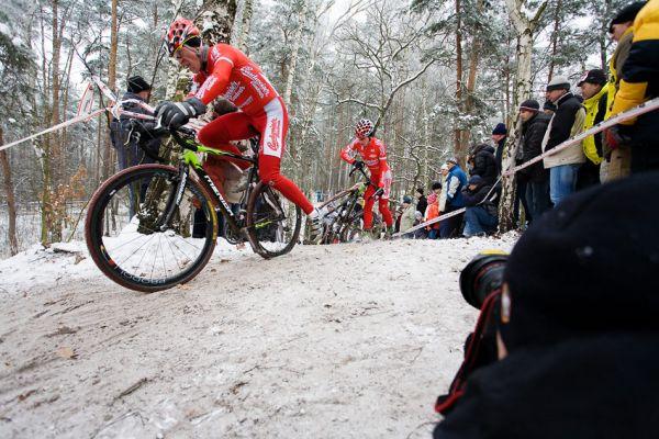 Mistrovství ČR cyklokros - Kolín 10.1. 2009 - David Kášek, foto: Miloš Lubas