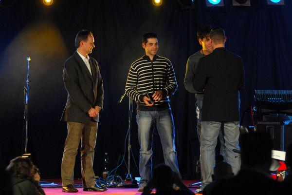 Finálový večer KPŽ '08: předání ceny Fair Play pro Jana Chrobáka a Martina Půlpána za záchranu života na tratích KPŽ