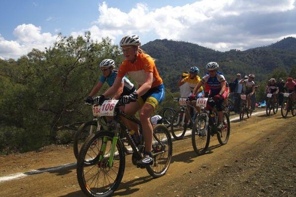 Sunshine Cup #2 - Afxentia Stage Race 2009, Kypr - Alexandra Engen byla při nedělním XCO aktivní