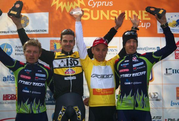 Sunshine Cup #2 - Afxentia Stage Race 2009, Kypr - celkové pořadí: 1. Lindgren, 2. Illias, 3. Soukup, 4. Friedl