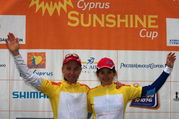 Sunshine Cup #2 - Afxentia Stage Race 2009, Kypr - dvě etapy si Tereza Huříková udržela žlutý trikot lídra Afxentia Cupu