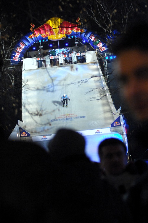 Red Bull Crashed Ice 2009 - Praha Vy�ehrad: startovac� rampa