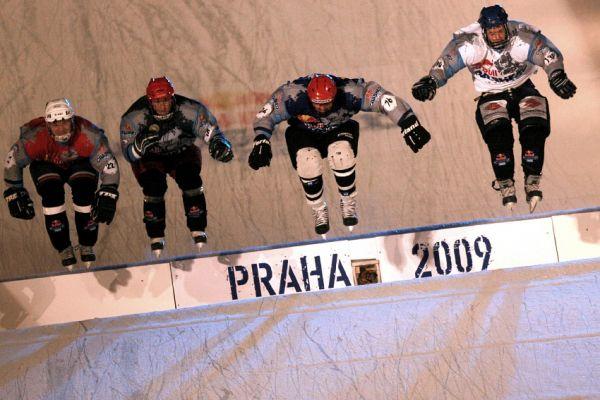 Red Bull Crashed Ice 2009 - Praha Vyšehrad: První jízda Michala Prokopa