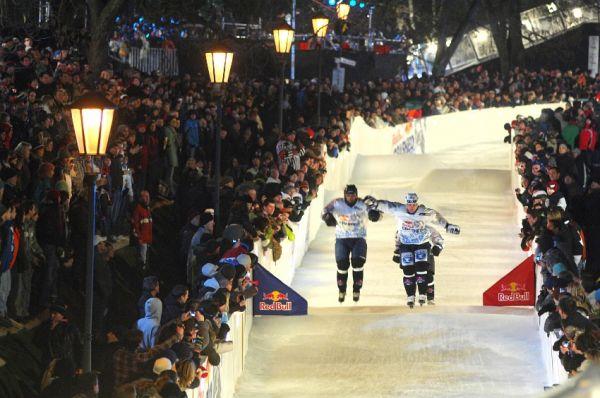 Red Bull Crashed Ice 2009 - Praha Vy�ehrad: �emli�ka, Straka, Ha�ek