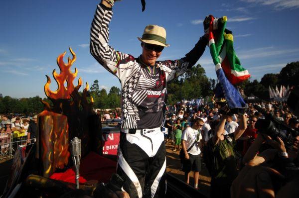 SP DH #1 2009 - Pietermaritzburg /RSA/: Greg Minnaar na Hot Seat