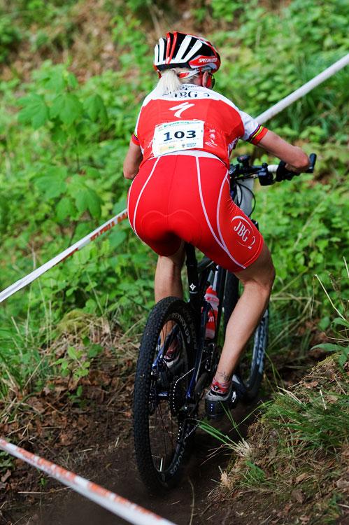 Maja Wloszczowska MTB Race - Jelenia Góra 9.5. 2009 - technika jízdy v podání Anny Szafraniec