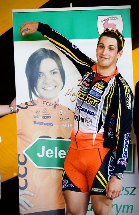 """Maja Wloszczowska MTB Race - Jelenia Góra 9.5. 2009 - Lukáš Sáblík: """" Mami, tuhle jsem si vybral...:-)"""""""