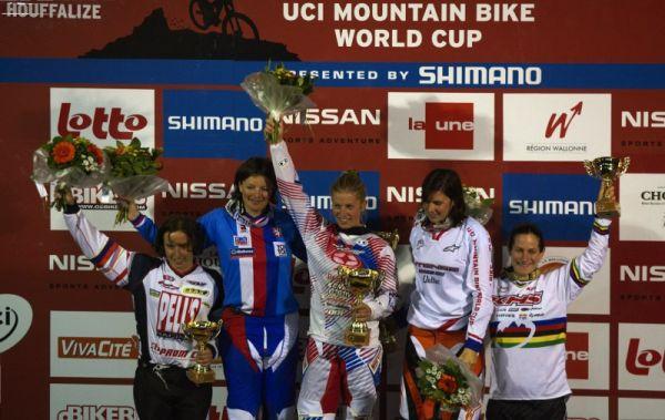 Nissan UCI MTB World Cup 4X #2 - Houfalize /BEL/ 1.-2. 5. 2009 - 1. Kintner, 2. Horáková, 3. Beerten, 4. Labounková, 5. Buhl