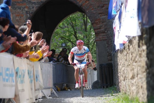 Author Šela Marathon 2009: Pavel Boudný vjíždí na Helfštýn