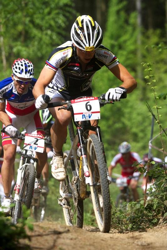 Nissan UCI World Cup #2 Offenburg /GER/ 25.4.2009, Nino Schurter a Julien Absalon