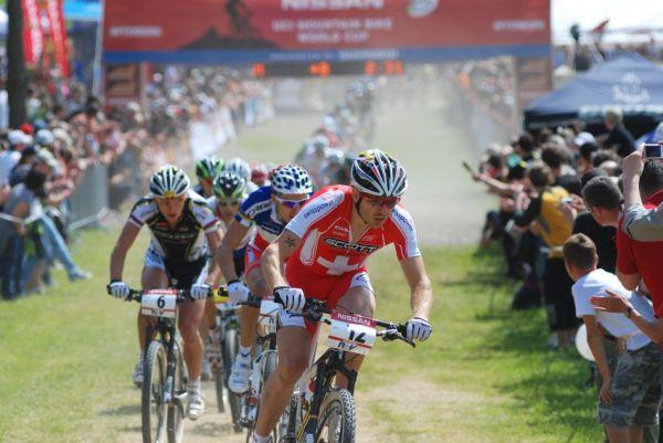 Nissan UCI World Cup #2 Offenburg /GER/ 26.4.2009 - Florian Vogel na špici