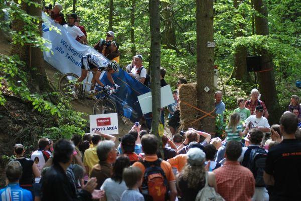 Nissan UCI World Cup #2 Offenburg /GER/ 26.4.2009 - Nino Schurter na Wolfsdropu