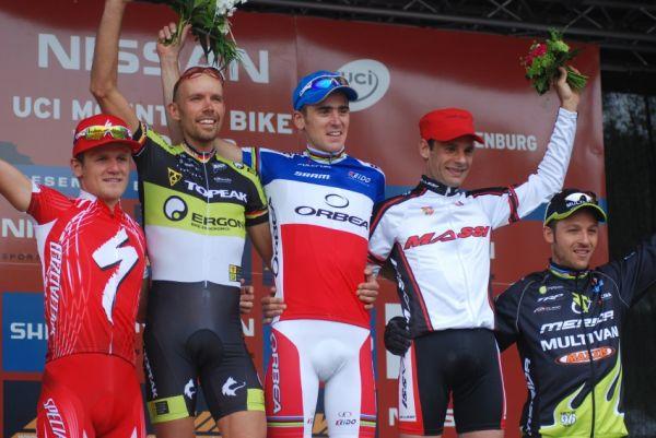 Nissan UCI World Cup #2 Offenburg /GER/ 26.4.2009 - 1.Absalon, 2.Kurschat, 3.Peraud, 4.Stander, 5.Naef